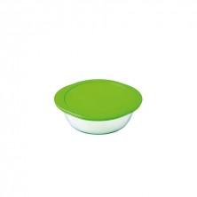 Recipiente Redondo Con Tapa Verde Cook&Store 27 x 24 x 8 cm.