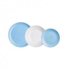 Vajilla Diwali Azul Y Blanca 18 piezas
