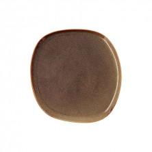 Plato Llano Ikonic Marrón 26,5 x 25,7 x 1,5 cm.
