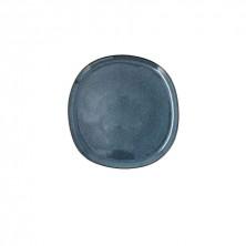 Plato Llano Ikonic Azul 20,2 x 19,7 x 1,3 cm.