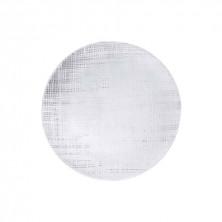 Plato Llano Ikonic Transparente Relieve 33 cm.
