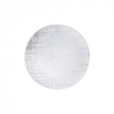 Plato Llano Ikonic Transparente Relieve 28 cm.